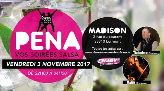 SOIREE PEÑA Vendredi 3  Novembre 2017