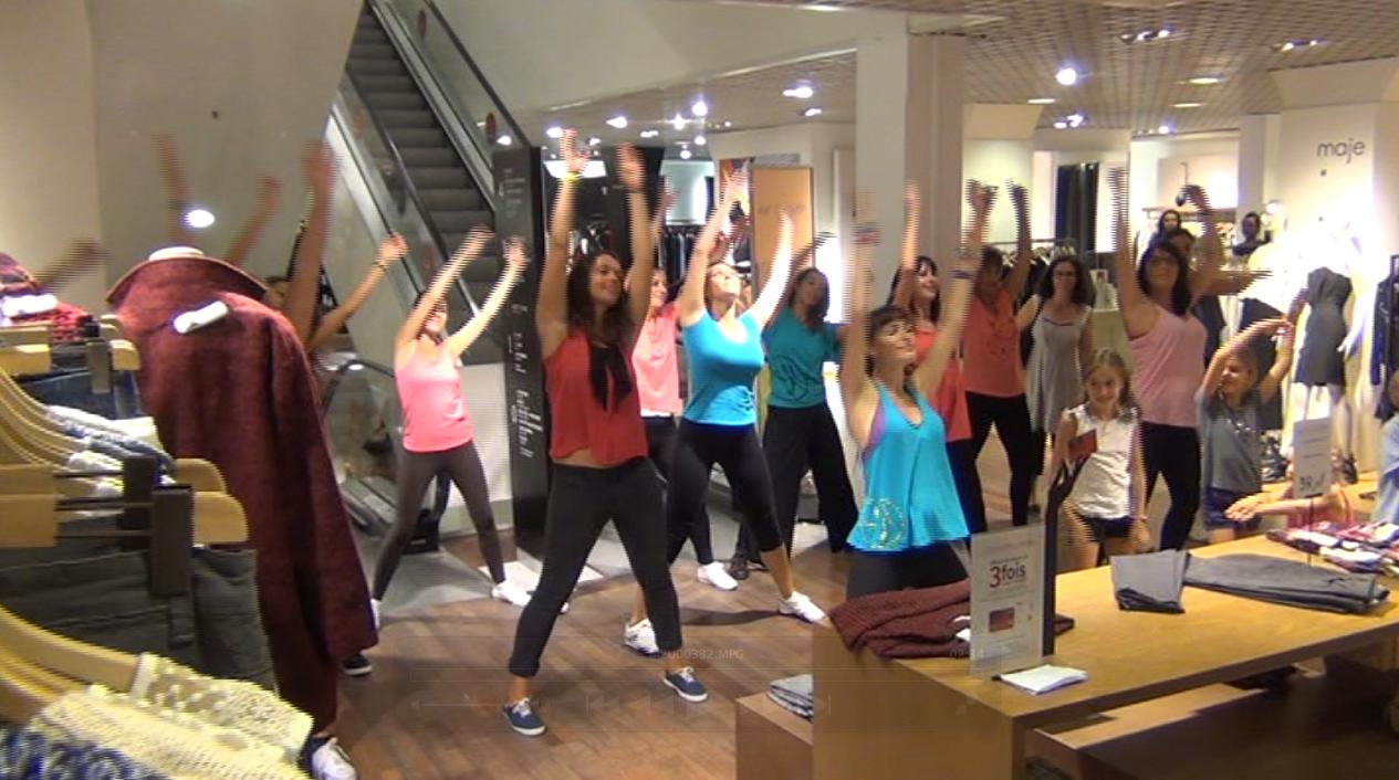 Flashmob pour les Galeries Lafayette